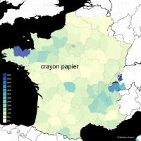 """Cartographie linguistique du """"crayon à papier"""" et de ses variantes"""